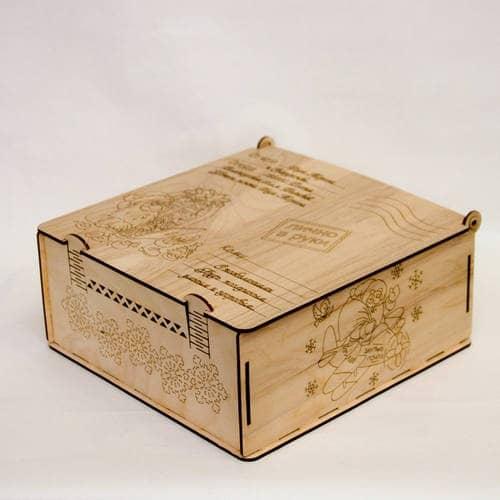 Макет коробки с застёжками