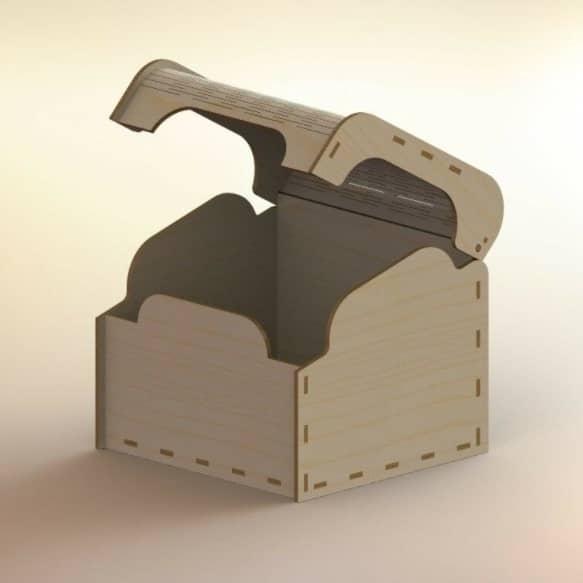 Коробочка с откидной крышкой