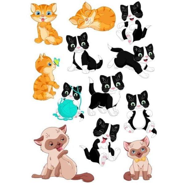 Векторные рисунки кошек
