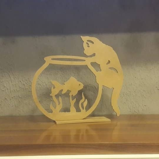 "Фигурка ""Котёнок и аквариум"""