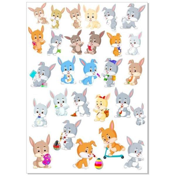 Кролики рисунки в векторе