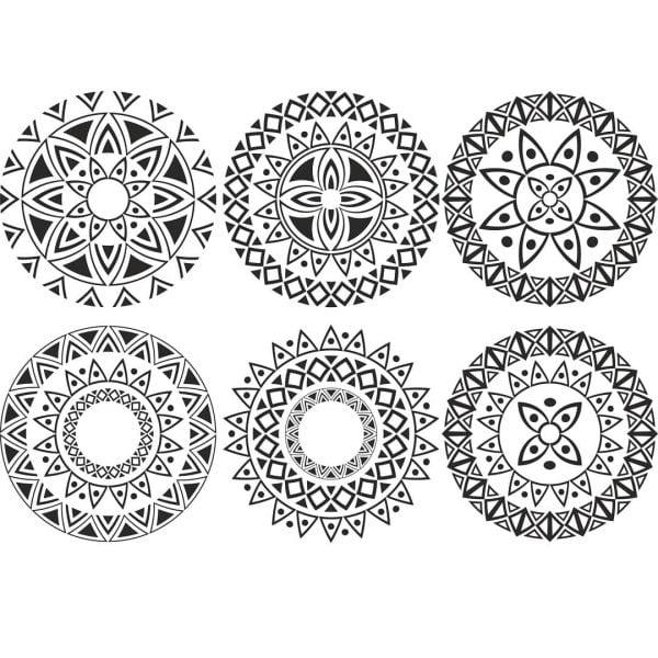 Векторный узор в круге