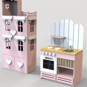 Кукольный дом и кухня