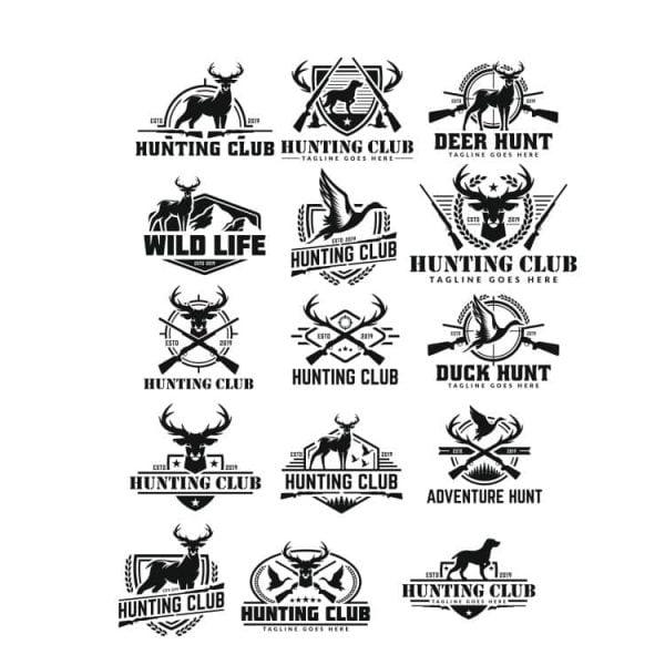 Логотипы Охота в векторе