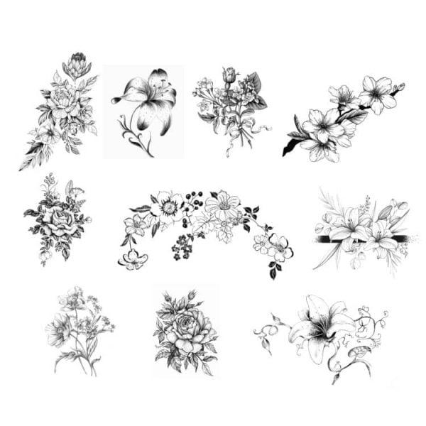 Набор цветов для гравировки