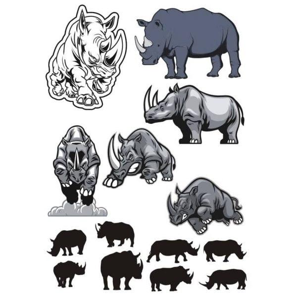 Векторный рисунок носорога