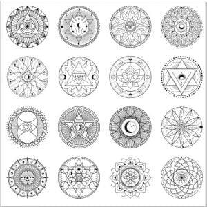 Векторные оккультные узоры