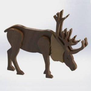 Северный олень макет