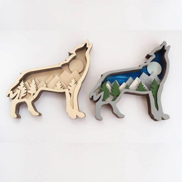 Макет панно волк