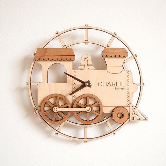 Часы паровоз макет