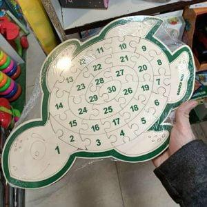 Пазл черепаха с цифрами