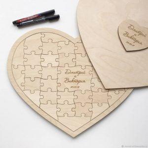 Пазл сердце макет