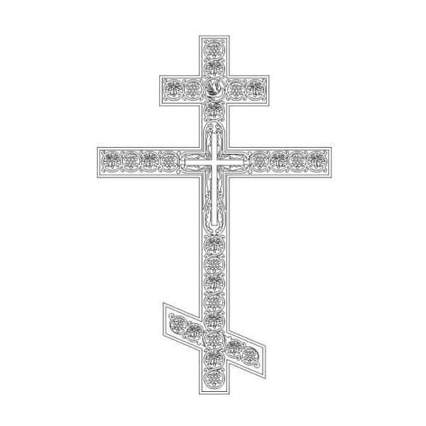 Православный крест макет
