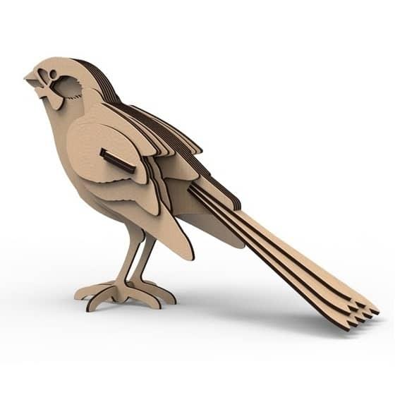Птичка из фанеры макет