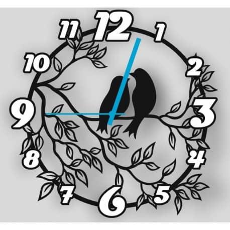 Часы 2 птички на ветке макет