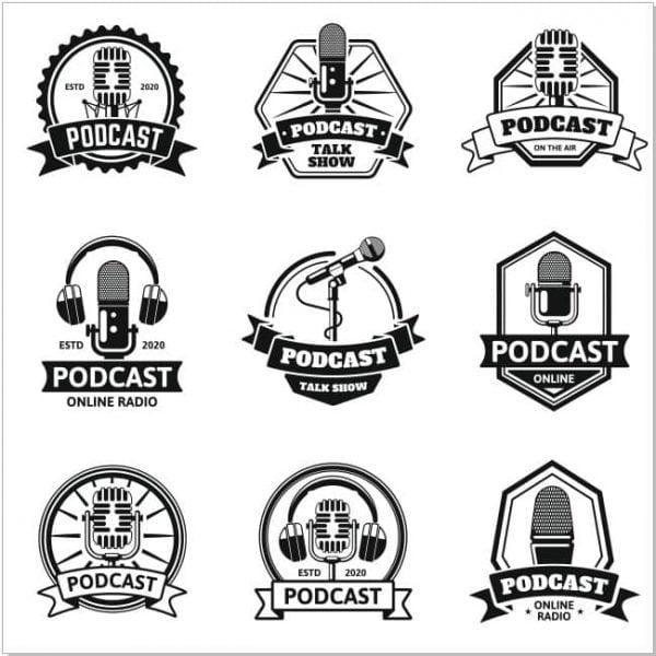 Векторные радио логотипы