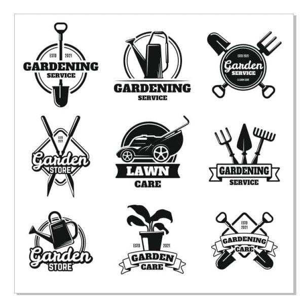 Садовые логотипы в векторе