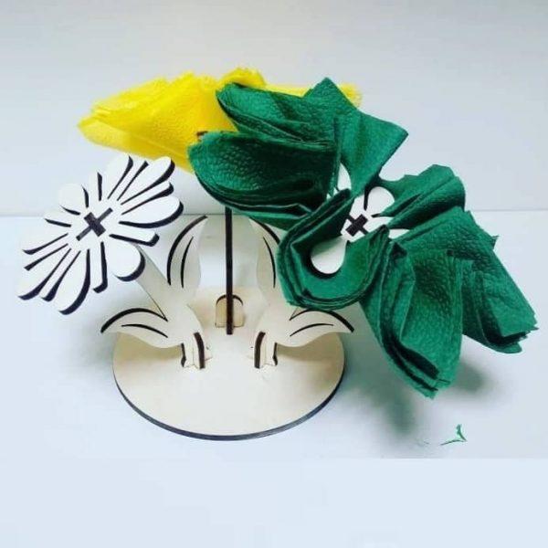 Салфетница цветок макет