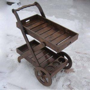 Макет столика с колёсами