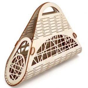 Треугольная летняя сумка макет