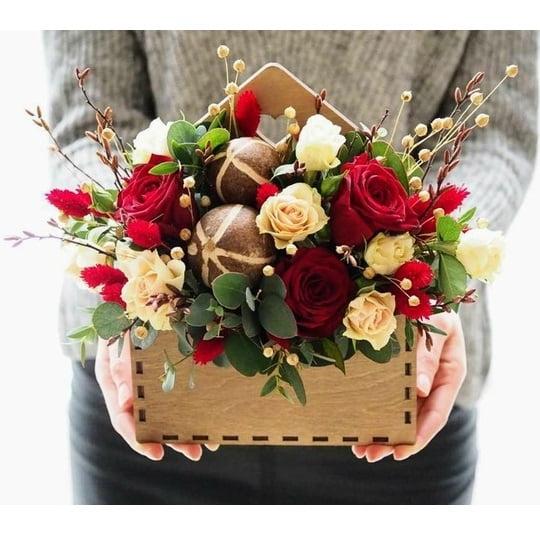 Ящик конверт для цветов