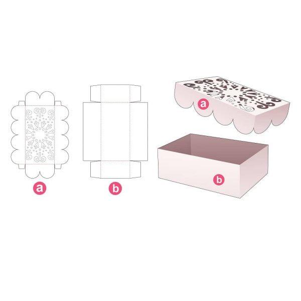 Ажурная коробка с крышкой
