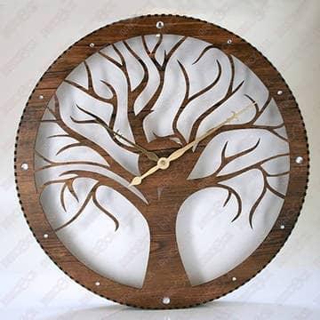 Часы дерево макет