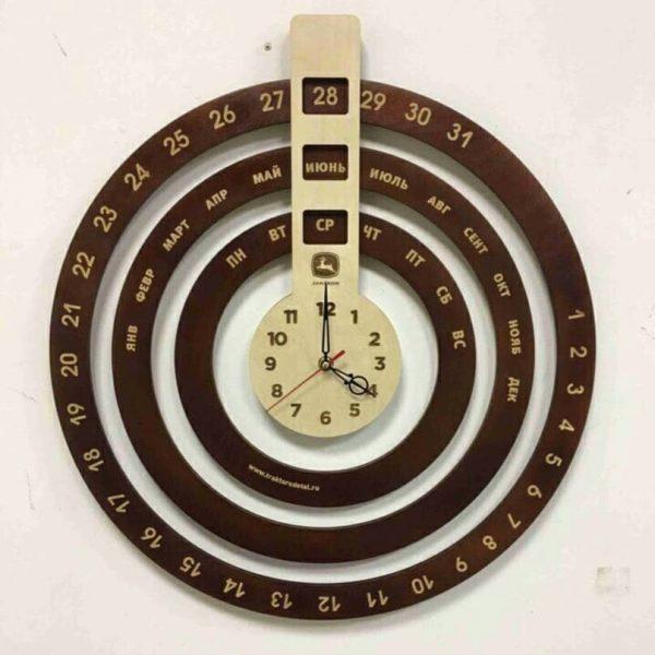 Часы - календарь макет