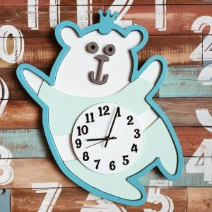 Часы медвежонок макет