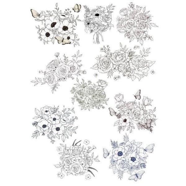 Цветочные композиции с бабочками