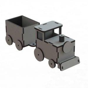 Макет детского паровоза с вагончиком