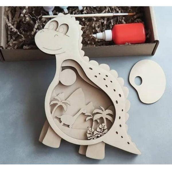 Панно динозавр макет