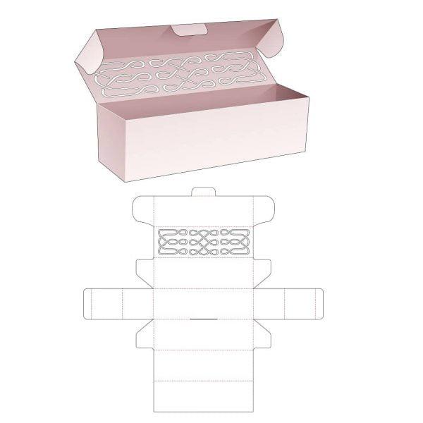 Длинная коробка с крышкой