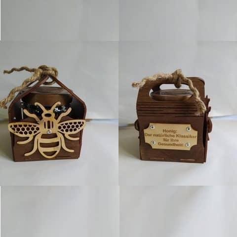 Макет коробки для банки с мёдом