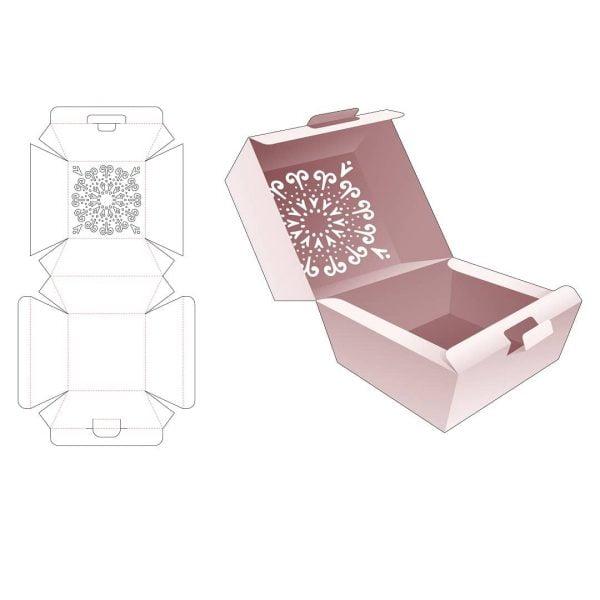 Коробка для еды с откидной крышкой