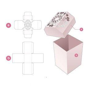 Коробка для канцелярских принадлежностей крышка с фаской