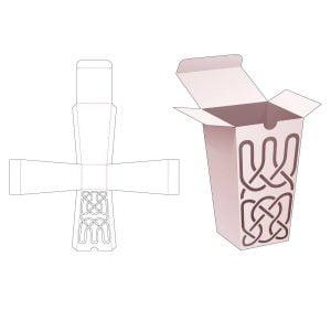 Коробка обелиск с крышкой