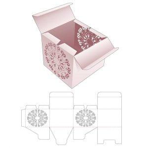 Коробка с двойной крышкой с загибом