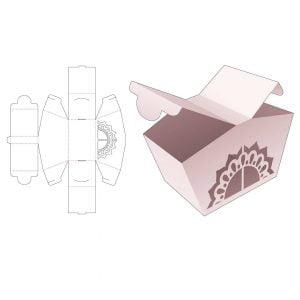Коробка с двумя крышками по бокам