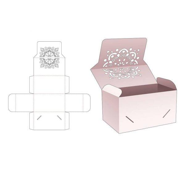 Коробка с крышкой фиксация сбоку