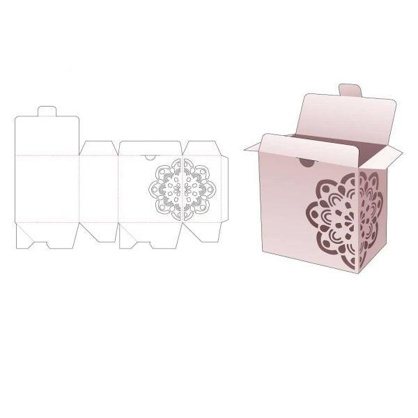 Коробка с крышкой фиксатором
