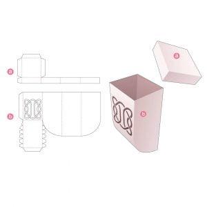 Коробка с крышкой и скруглённым дном
