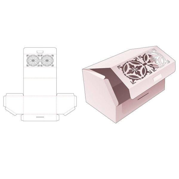 Коробка с откидной крышкой и фаской