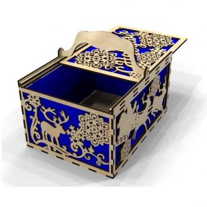 Новогодняя коробка с крышкой