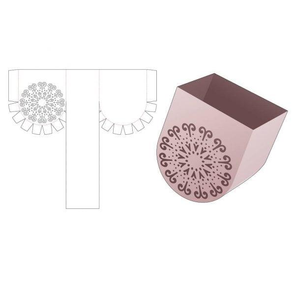 Коробка с закруглённым дном