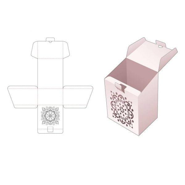 коробка со скошенным верхом и крышкой