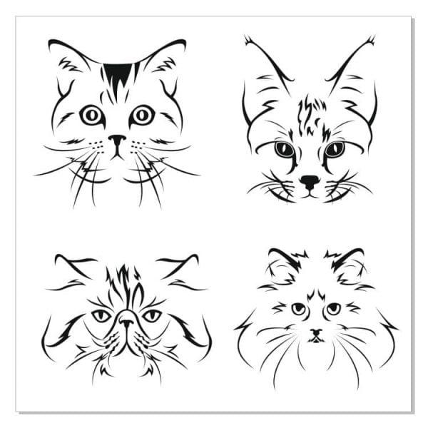 Рисунки кошек в векторе