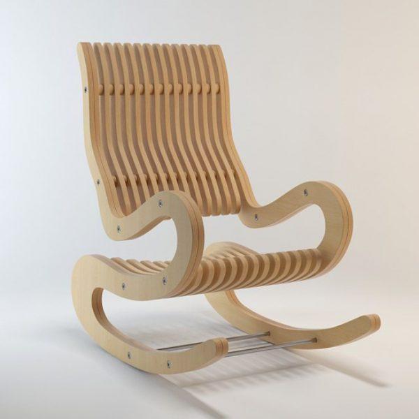 Макет кресла качалки из фанеры