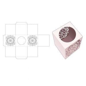 Квадратная канцелярская коробка с круглым вырезом