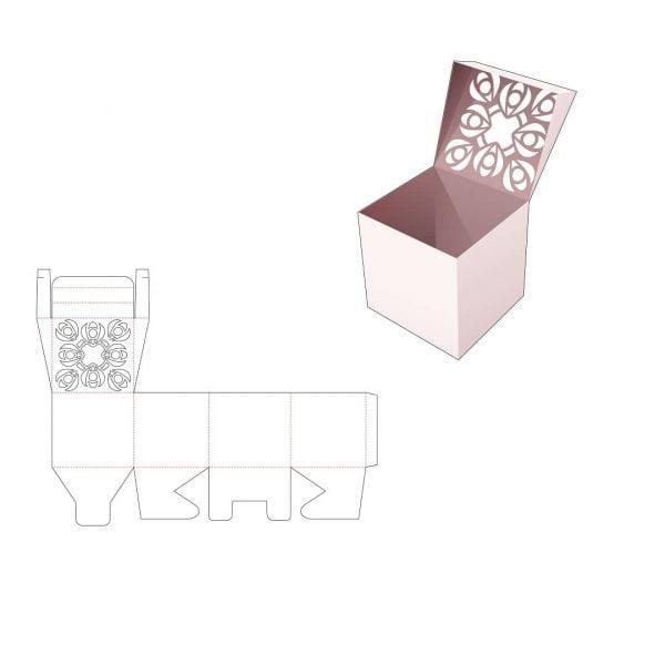 Квадратная коробка с крышкой